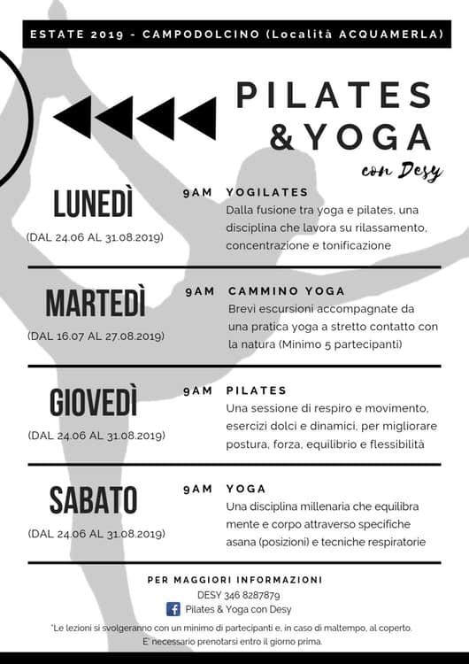 Cammino yoga con Desy