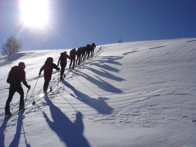 Uscita scialpinismo Pian dei Cavalli