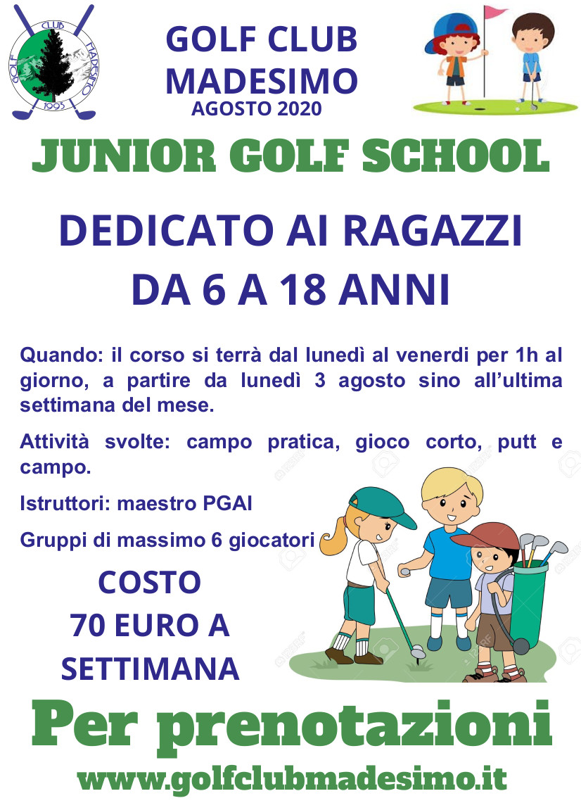 Junior golf school