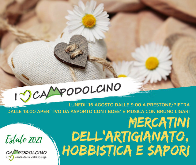 I love Campodolcino: mercatini