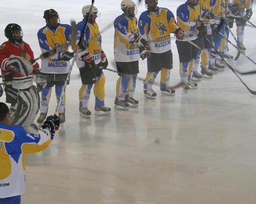 Partita di hockey a febbraio